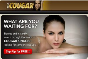 Date A Cougar homepage