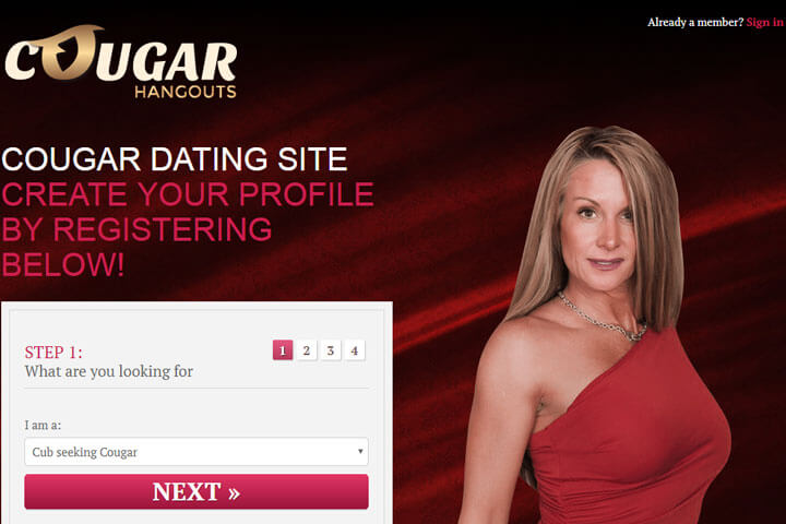 Cougars dating site