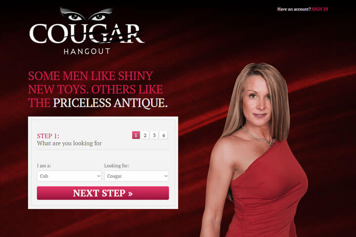 sala cougars dating site Cougar hangout is part of the online connections dating network, which includes many other general and cougar dating sites as a member of cougar hangout, your profile will automatically be.
